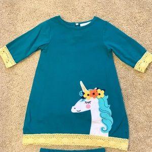 Counting Daisies Unicorn Dress Toddler Girls 24m